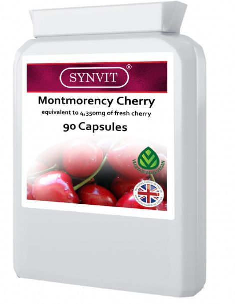 Montmorency Cherry equivalent to 4,350mg of fresh cherry Synvit 90 Capsules